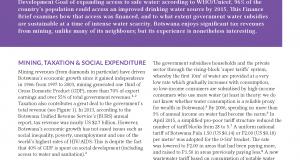 finance brief 13 subsiding water botswana